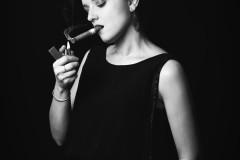 La fumeuse.