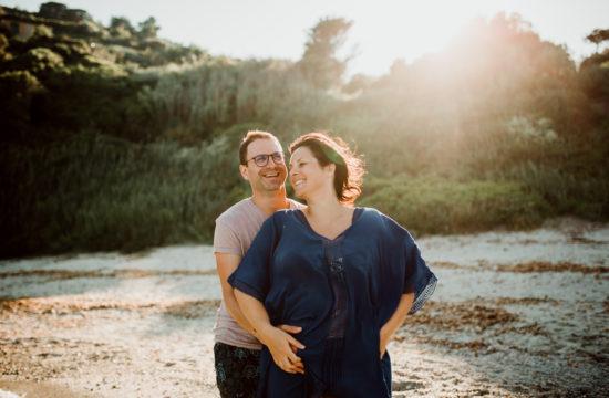 Séance photo de couple à la mer