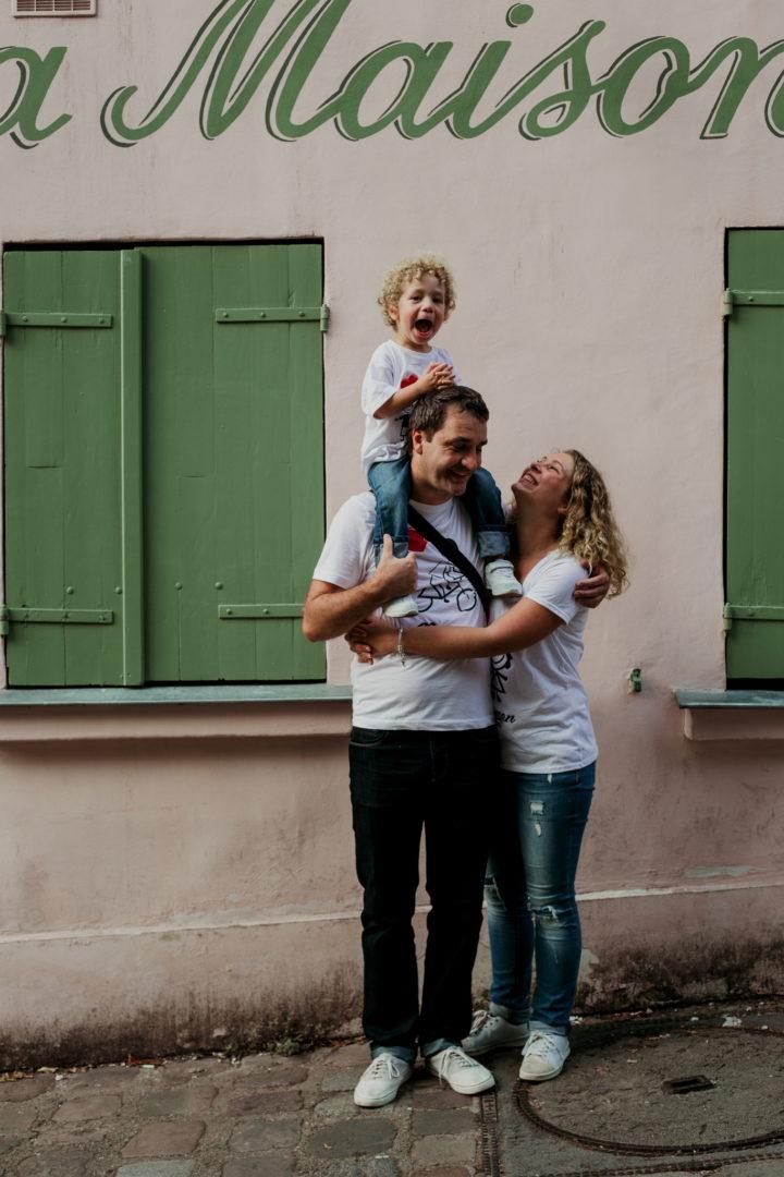 La famille à Montmartre