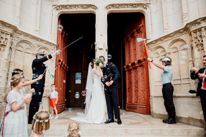 Sortie des mariées à l'église de Clamecy