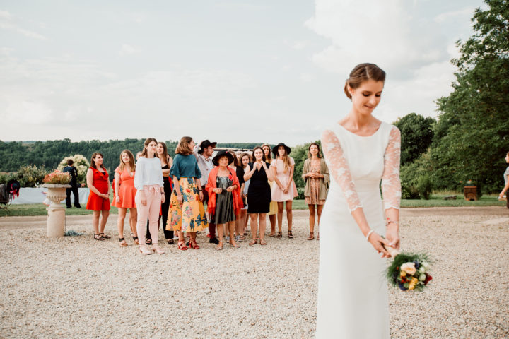Lancé du bouquet de la mariée au Domaine du Bouloy