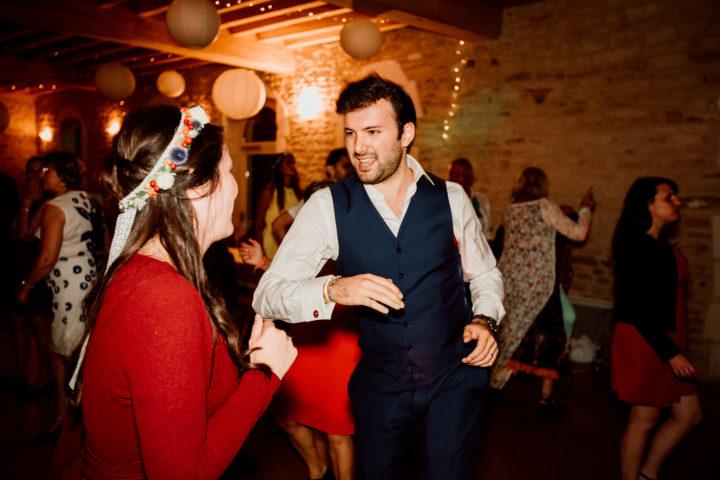 Soirée dansante du mariage de Cécile et Clément au Domaine du Bouloy