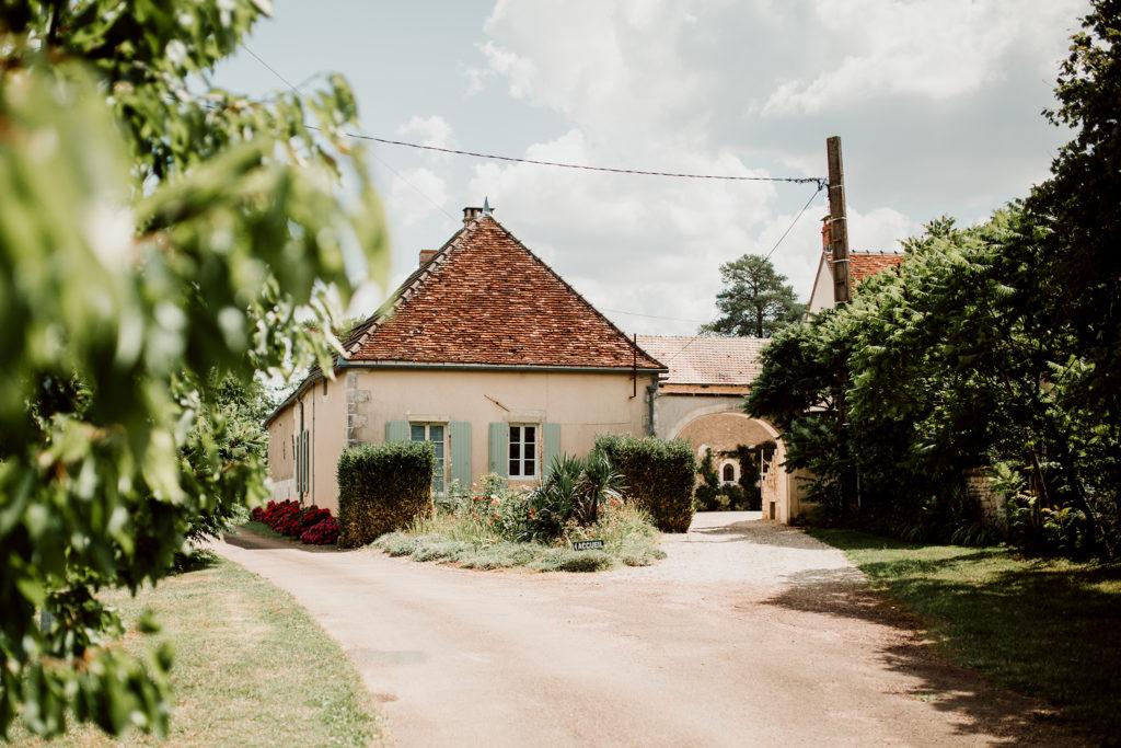 Photo de l'entrée du Domaine du Bouloy à Druyes les Belles Fontaines