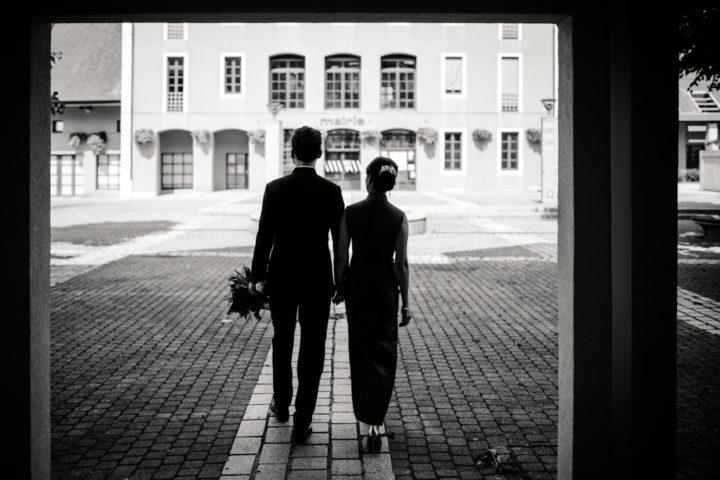 Sunny et Benjamin quelques minutes avant le mariage civil
