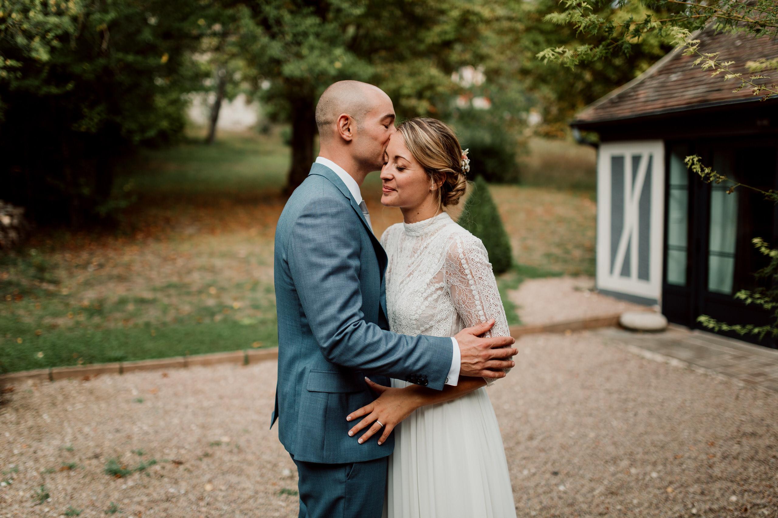 Couple de mariés à la Dime de Giverny