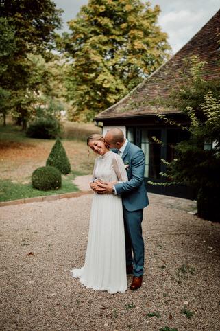 Photo de couple durant le mariage d'Océane & Régis à la Dime de Giverny