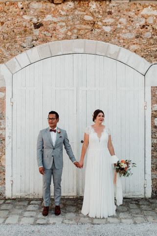 Photo de couple durant le mariage de Tiphaine & Daniel au domaine de la Chalotterie